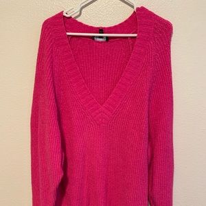 Oversized Hot Pink Sweater